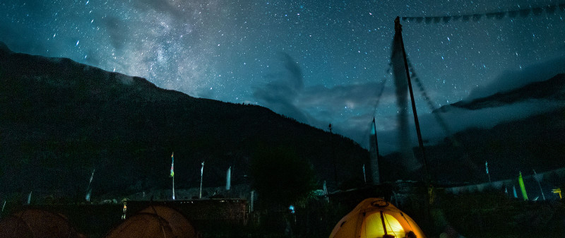 Night view expedition Dhaulagiri 7