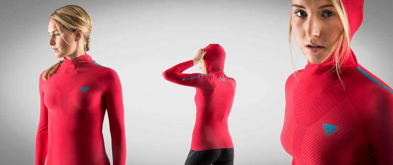 Dynafit Athlete Johanna Erhart wearing the new Elevation S-Tech Longsleeve Shirt