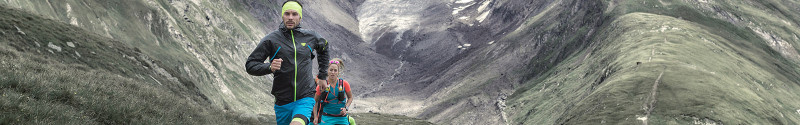 Dynafit Ultra Trail Athletes running in Obergurgl in the Austrian Alps